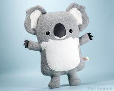 Koala plush stuffed animal - Cute koala soft toy - Handmade - Plush Stuffed Animal - Flat Bonnie - 2