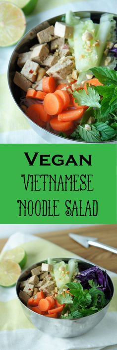 Vegan Vietnamese Noodle Salad, packed full of veggies, fresh herbs and flavor! An easy, healthy dinner or lunch idea. Vegetarian Vietnamese, Vietnamese Noodle Salad, Salad Recipes, Healthy Recipes, Healthy Meals, Healthy Life, Hot Soup, Meatless Monday, Meal Planning