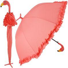Flamingo Straight Clair parapluie