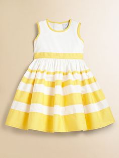Baby CZ - Toddler's & Little Girl's Striped Dress Toddler Girl Style, Toddler Girl Outfits, Toddler Fashion, Kids Outfits, Kids Fashion, Girls Pageant Dresses, Little Dresses, Little Girl Dresses, Kids Dress Wear