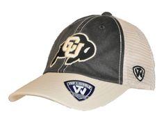 3bb249a4c45ed Colorado Buffaloes Top of the World Black Beige Offroad Adj Snapback Hat Cap