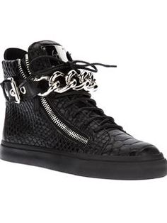 Giuseppe Zanotti Design Zip Detailed Hi-top Sneakers - Biondini Paris - Farfetch.com