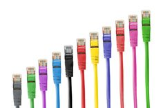 #cable #colorful #colourful #connection #ethernet #internet #lan #lan cable #network #network cables #network connector #patch cable #rj 45 #rj45 #royalty free images