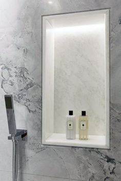Small Bathroom Decorating Ideas is very important for your home. Whether you pick the Luxury Bathroom Master Baths Photo Galleries or Luxury Master Bathroom Ideas Decor, you will create the best Bathroom Ideas Apartment Design for your own life. Bathroom Recessed Lighting, Bathroom Niche, Shower Niche, Bathroom Toilets, Remodel Bathroom, Master Shower, Bathroom Ideas, Lighting For Bathrooms, Bathroom Renovations