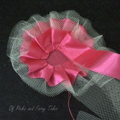 Of Pinks and Fairy Tales: Satin and Tulle Flower Tutorial