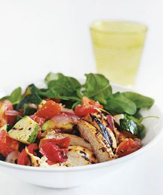 Grilled-Chicken Chopped Salad recipe from realsimple.com #myplate #protein #vegetables