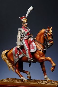 officer of Horses - Polish Light Guard 1810 Lead Soldiers, Toy Soldiers, Empire, Little Hotties, Military Figures, Military Modelling, French Army, Miniature Figurines, Napoleonic Wars