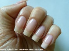 clean looking with some seriously long nail beds (jealous) ~ LOVE the long natural nails Nails Only, Love Nails, How To Do Nails, My Nails, Thin Nails, Strong Nails, Gorgeous Nails, Pretty Nails, Long Nail Beds