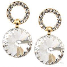 Kolczyki wykonane ze srebra 925 oraz kryształów SWAROVSKI ELEMENTS. Sprawdź na www.bizuteriapiotrowski.pl!