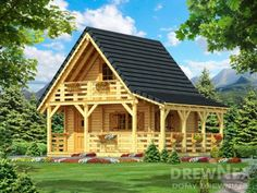 Jaskółka II - Domy drewniane letniskowe - DREWNEX Home Fashion, Cabin, House Styles, Home Decor, Homemade Home Decor, Cabins, Cottage, Decoration Home, Cubicle