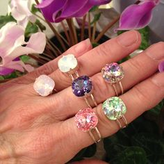 eadce42c3 Excited to share the latest addition to my #etsy shop: Swarovski Rings 12mm  Square