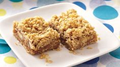 Looking for a tasty dessert using Gold Medal® all-purpose flour? Then try these bars baked with apple, nuts and oats - a delicious treat.