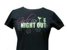 New Fun Glitter and rhinestone shirt, perfect for any girls night!
