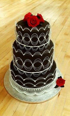 Oriental Stringwork Wedding Cake By FivePage on CakeCentral.com