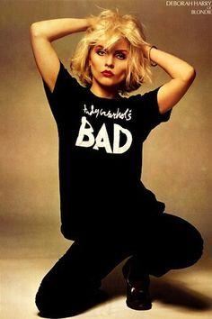 Debbie Harry in Andy Warhol's Bad t-shirt. Blondie.