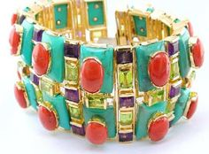 tony duquette jewelry   Tony Duquette cuff bracelet . Sorry guys, but you'll be included in ...