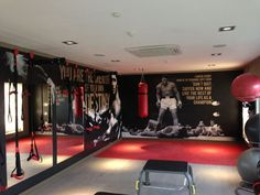 Gym Style decor, with iconic athletes on the wall - Digital Wallcovering - http://www.vinylimpression.co.uk/