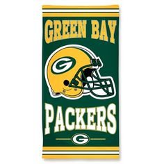 Green Bay Packers 30x60 Fiber Beach Towel: Green Bay Packers 30x60 Fiber Beach Towel On the beach, in the dorm, or just when you need a big…