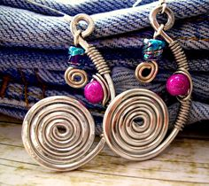 alambre earrings aros pendientes alambre