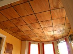 thin plywood for drop ceiling - PERFECT for our basement project!