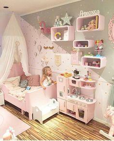Bon Awhhh Childrens Bedroom, Girls Bedroom, Bedroom Decor, Trendy Bedroom,  Little Girl Bedrooms
