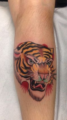 Traditional tiger by Bryce H. at Art with Heart; Denver, CO.