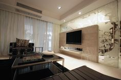 """In fact, in the home improvement design, it has already become a TV backdrop design """"focus"""", also reflects the personality of the owner of a particular space."""