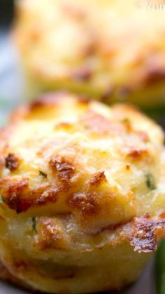 Mashed Potato Puffs ~ Delicious... They are crispy on the outside and soft, creamy and cheesy on the inside.