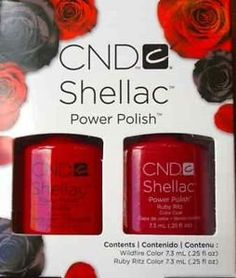 CND SHELLAC PERFECT PAIR DUO PACK  RUBY RITZ SHELLAC AND WILDFIRE SHELLAC  2 X 73ML *** To view further for this item, visit the image link.