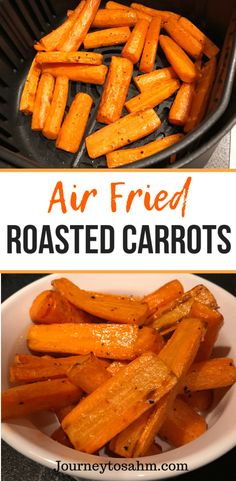 Recipes For Family Delicious air fried roasted carrot recipe. Enjoy healthy carrots in half the time cooked in an air fryer. An easy side dish for family dinners and weeknight meals. A perfect healthy carrot recipe that is delicious and quick. Air Fryer Oven Recipes, Air Frier Recipes, Air Fryer Dinner Recipes, Recipes For Airfryer, Grilling Recipes, Actifry Recipes, Carrot Recipes, Healthy Recipes, Healthy Food