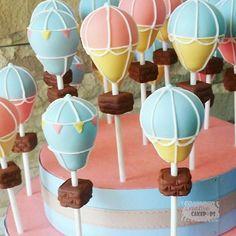 Hot air balloon cake pops! #creativecakepops #cakepop #cakepops #instacakepops #hotairballoon #hotairballooncakepops #capetowncakepops #capetownbakery #sweetsforeveryoccasion
