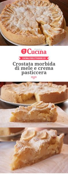 Oh man, here is another Apple Recipes, Sweet Recipes, Baking Recipes, Cake Recipes, Dessert Recipes, No Cook Desserts, Italian Desserts, Italian Recipes, Torte Cake