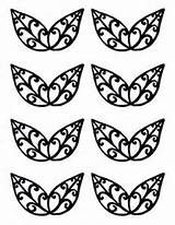 Leaves Template/stencil for chocolate decorations More