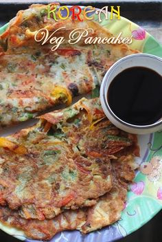 YUMMY TUMMY: Korean Vegetable Pancakes with Easy Soy Dipping Sauce