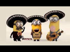 Happy birthday, funny little mornings with Mariachis, on the day of your Sant . Happy Birthday Wishes Spanish, Minions Happy Birthday Song, Happy Birthday Brother Funny, Birthday Wishes Gif, Free Happy Birthday Cards, Happy Birthday Video, Birthday Songs, Singing Happy Birthday, Happy Birthday Messages