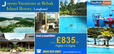 Enjoy a luxurious stay at the spectacular #Rebak #Island #Resort in the heart of #Malaysia at a special price. 5 nights vacation starting from £835. Call for bookings now! http://www.southalltravel.co.uk/holidays/far-east/malaysia/langkawi/rebak-island-resort.aspx
