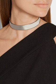 Eddie Borgo - Safety Chain Silver-plated Choker - one size