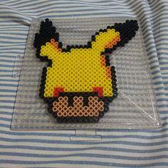 Pikachu mushroom perler beads by theinfamousbigd