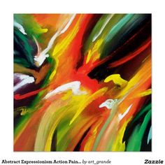 Abstract Expressionism Action Painting Poster