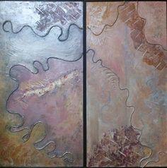 """""""Scilla e Cariddi""""  tecnica mista su legno coppia pannelli 50x100  http://www.dariarte.altervista.org/"""