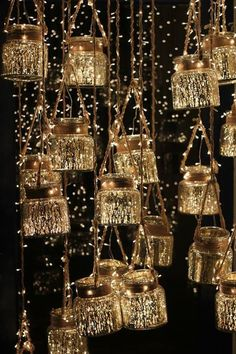 Hanging Glass Jar Lanterns.flameless tealights~balcony