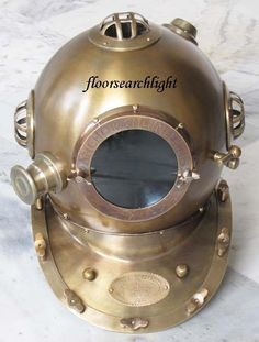 Trustful Diving Helmet Yellow Diving Helmet Us Navy Anchor Engineering Antique Helmet Diving Helmets Maritime
