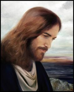 """An image of our Savior Jesus Christ by Brent Borup titled """"On the Shores of Galilee"""" Jesus Christ Painting, Jesus Art, Pictures Of Jesus Christ, Religious Pictures, Jesus Pics, Jesus Our Savior, God Jesus, Image Jesus, Our Father In Heaven"""