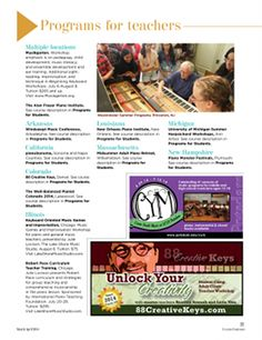 Clavier Companion's Summer Camps & institutes 2014 Directory includes in-depth workshop descriptions as well as direct links to each event's website. #pianoteaching #pianopedagogy #thepianomag
