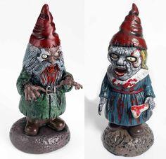 "16"" Scary Figure Zombie Garden Gnome Haunted Mansion Decoration Halloween Decor"