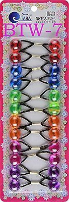 Tara Girls Twinbead Multi Cute Design Ponytail Elastics Selection 12 CLEAR MIX