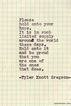 Typewriter Series #56 by Tyler Knott Gregson