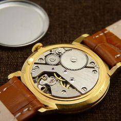 Raketa Soviet Dress Watch From raketa poljot de luxe Gents Watches, Omega Seamaster, Mechanical Watch, Watch Case, Brown Leather, Mesh, Swiss Watch, Jewels, Classic
