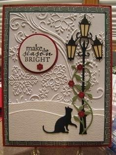 Street light and cat