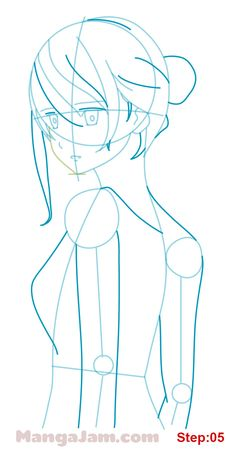How to Draw Mary from Hai To Gensou No Grimgar step 05